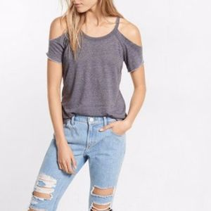 EUC Express Cold Shoulder Cut Out Knit Top Small